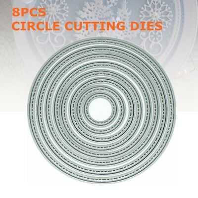 8 piece Stitch Circle nesting die set metal cutting die cutter UK Fast Post