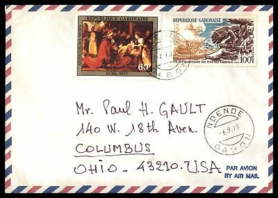 1979 Ndende Gabon Sep 6Th Air Mail Commercial Cover To Columbus Oh Usa
