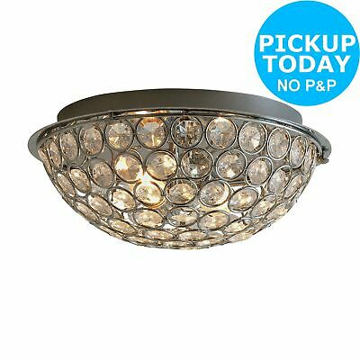 Argos Home 2 Light Sparkle Flush Ceiling Fitting - Silver