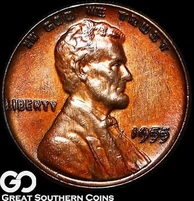 1955/55 Lincoln Cent Wheat Penny, Doubled Die, Desired Choice BU++ Key Date!