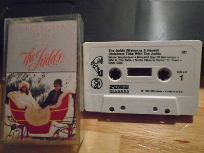 RARE OOP The Judds CASSETTE TAPE Christmas Time With country 1987 Wynonna Naomi