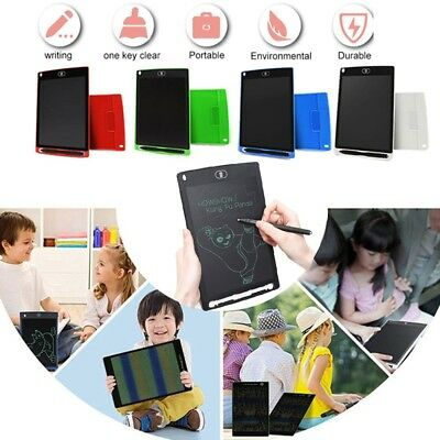 """AU 12"""" 8.5'' Kid Gift Digital LCD Writing Draw Tablet Pad Graphic Boards Notepad"""