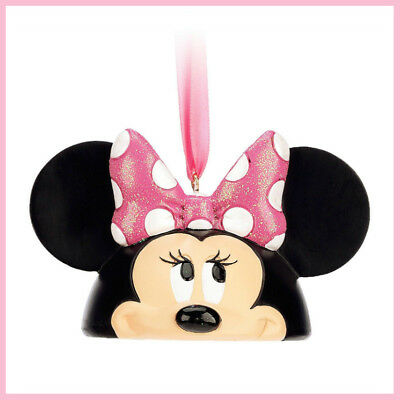 Disney Parks Minnie Mouse Ear Hat Christmas Ornament NEW with tags