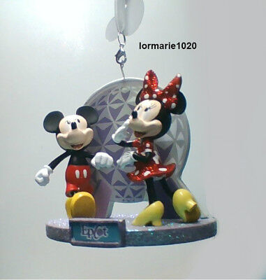 2018 Disney Parks Epcot Mickey Minnie Christmas Ornament NEW with tags