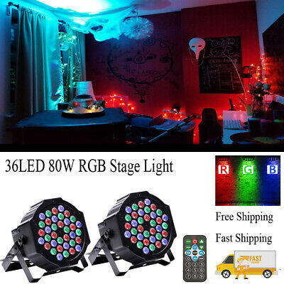 80W U`King 2PCS Stage Light 36 LEDs RGB Lighting DMX Bar DJ Show Remote Control