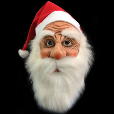 Santa Claus Adult Christmas Face Masquerade Costume Fancy Full Mask