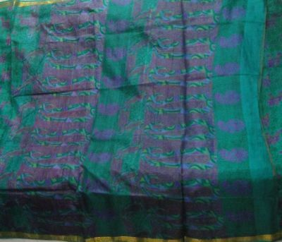 Beautiful Color & Pattern Vintage Fabric 5 Yard Pure Silk Sari Zari Border Saree