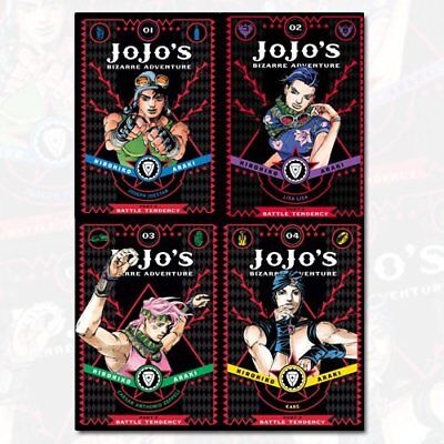 Jojo's Bizarre Adventure Series 2 Collection 4 Books Set Pack By Horihiko Araki