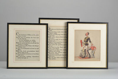 Victorian Print. Royal Horse Guards with Amusing Life Guards & Blues Prose. JHG