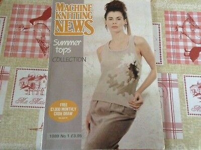 Machine Knitting News Booklet - Summer Tops Collection - 1989