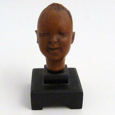 19Th Century Chinese Charved Nut Figure - Head Of A Boy