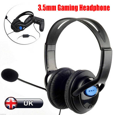 3.5mm Gaming Headset Headphone Mic Volume Control For PC Mac Laptop PS4 Xbox One