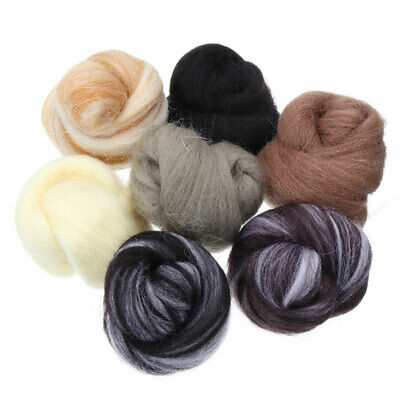 7pc 35g Needle Felting Natural Collection For Animal Projects Felting Wool Craft