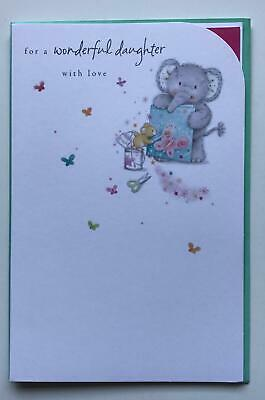 Happy Birthday Daughter Cute Elliot Buttons New Uk Greetings Card Lovely Verse