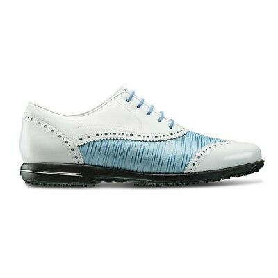 FootJoy Women s Tailored Collection Closeout Golf Shoes 91687 - White Ocean  NEW 362e7fd703f