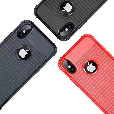 SOLID GEL CASE COVER FOR iPhone X/XS, XS MAX, XR,7,8 WITH SHOCK ABSORBING CORNER