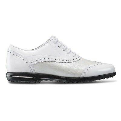 FootJoy Women s Tailored Collection Closeout Golf Shoes 91686 - White Pearl  NEW 1b42352ad92