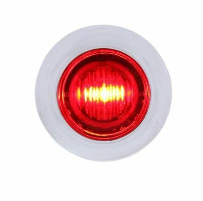 3 LED Dual Function Mini Auxiliary / Utility Light w/ Bezel - Red LED/Red Lens