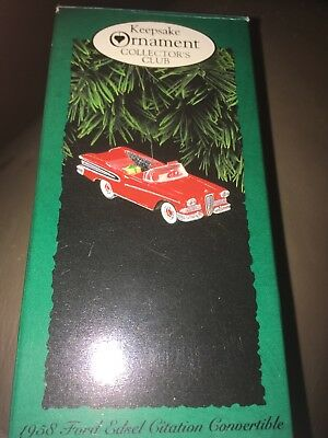 1995 Hallmark  1956 Ford Truck   All American Truck  Keepsake Club Ornament