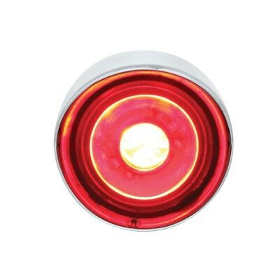 """High Power Led 1"""" Clearance/marker Light With Visor - Red Led/clear Lens"""