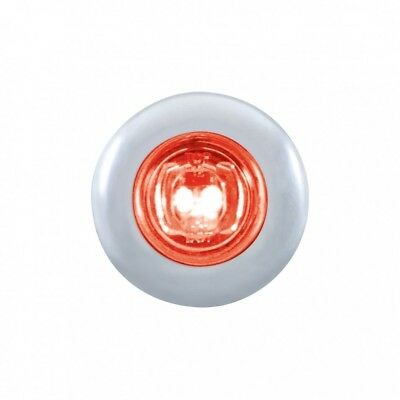 Red Led Mini Clearance/marker Light With Stainless Steel Bezel - Clear Lens
