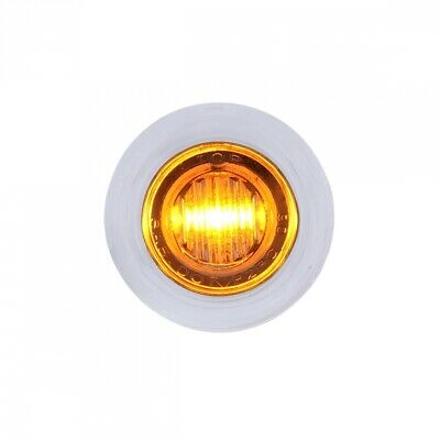 Amber Led Dual Function Mini Auxiliary/utility Light W/ S.s. Bezel - Clear Lens
