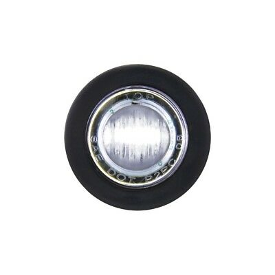 White Led Mini Clearance/marker Light With Clear Lens
