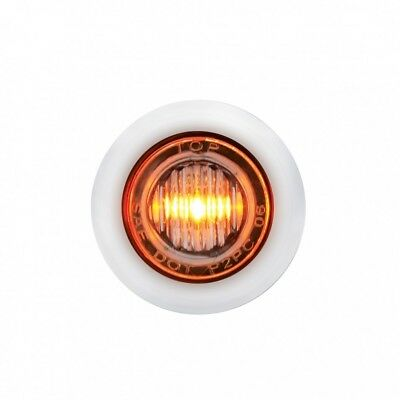 Stainless Steel Amber Led Mini Clearance/marker Light - Clear Lens