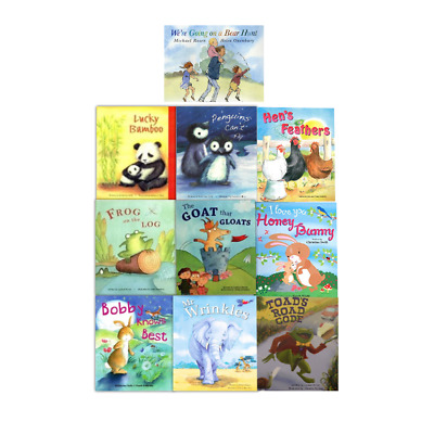 Were Going On A Bear Hunt 10 Book Set Flat Picture Books Collection Mr Wrinkles
