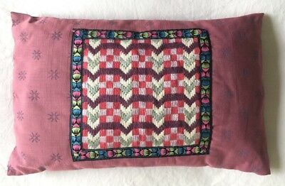 Lovely Boho Pink VINTAGE  Retro CUSHION COVER Tapestry Wool Needlepoint