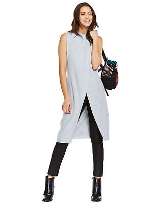 V By Very Sleeveless Long Split Front Top