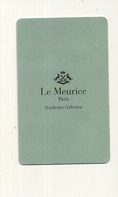 Le MEURICE---Paris France-----Room key--K-79