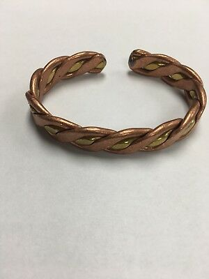 Pro Energized Braided Frequency Charged Copper Bracelet for Arthritis, Balance