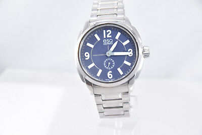 2aa7af52b MEN'S ESQ BY Movado 07301417 Stainless Steel Band Blue Chronograph ...