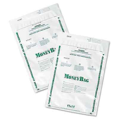 PM Company Securit Plastic Money Bags Tamper Evident 9 x 12 White 50/Pack