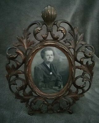 Photo Frame - Vintage - Decorated Guilded Cast Iron