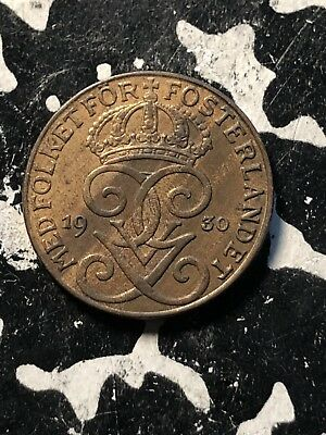 1930 Sweden 1 Ore (3 Available) Circulated (1 Coin Only)