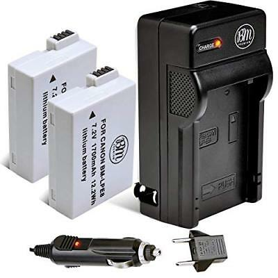 BM Premium 2-Pack of LP-E8 LPE8 Batteries and Dual Battery Charger Kit