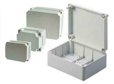 All Sizes Adaptable PVC Grey Boxes Enclosure With Screwed Lid IP56 Weatherproof