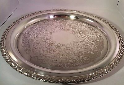 Oneida Silver Plated Platter or Drinks Tray. 12""
