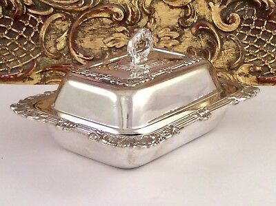 Superb Antique Art Nouveau Small  Silver Plated Butter/Entree Dish C1900