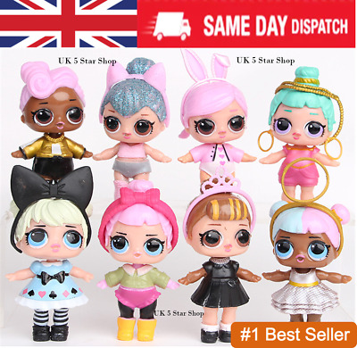 8PCS SURPRISE DOLL Blind Mystery Figure Cake Topper Toy + Accessories like LOL