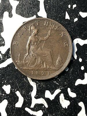 1893 Great Britain 1 Farthing (5 Available) Circulated (1 Coin Only)