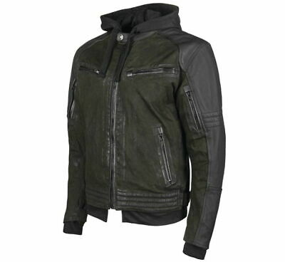 Speed & Strength Men's Leather-Canvas Jacket Olive/Black 2XL 1101-0203-1356