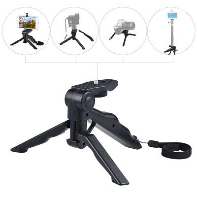 Andoer Mini Tripod Stand Support Holder Hand Grip Stabilizer With Cellphone Clip