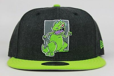 the best attitude 68368 0566e Nickelodeon Rugrats Reptar Black Heather Green New Era 9Fifty Snapback Hat  Cap