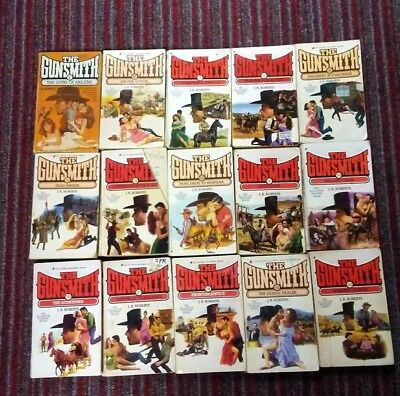 The GUNSMITH by J.R.ROBERTS lot of 15 paperback novels
