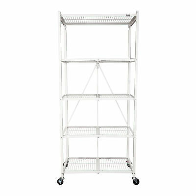 Origami 5 Tier Collapsible  Household General Purpose Shelf and Rack, White