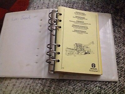 Ford New Holland product data training manual 1992/3 combines balers harvesters