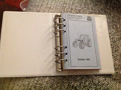 Ford New Holland product data manual 1993 Series 40 tractors, combines & baler
